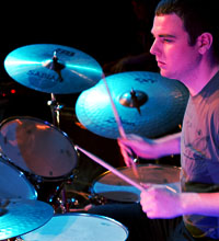 Man playing the drums